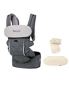 Smart Baby Carrier with Convertible Hip Seat and Teething Pad Set