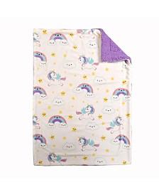 Baby's First by Nemcor Ultimate Sherpa Baby Blanket, Unicorn