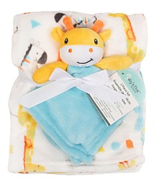 Baby's First by Nemcor 2-Piece Blanket Buddy Set, Giraffe