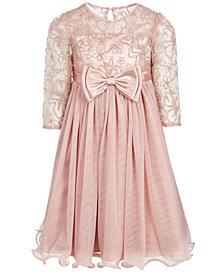 Bonnie Jean Big Girls Lace Bow Dress