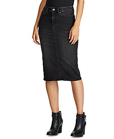 Lauren Ralph Lauren Curvy-Sculpted Denim Skirt