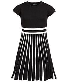 Sequin Hearts Big Girls Accordion-Skirt Dress