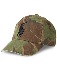 Men's Camo Big Pony Canvas Baseball Cap