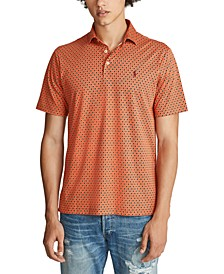 Men's Classic Fit Printed Soft Touch Polo Shirt