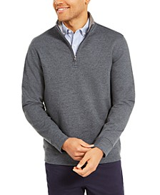 Men's Stretch 1/4-Zip Fleece Sweatshirt, Created For Macy's