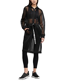 Sport Hooded Long Mesh Jacket