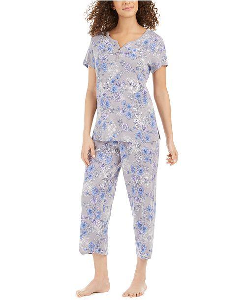 Charter Club Capri Pant Cotton Pajama Set, Created for Macy's