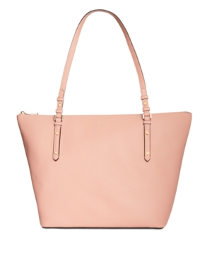 Kate Spade Large Polly Leather Tote In Flapper Pink/Gold