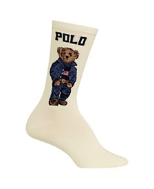 Polo Ralph Lauren Women's Americana Bear Crew Socks