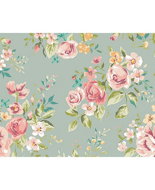 "ohpopsi Flowery Wall Mural, 118"" x 94"""