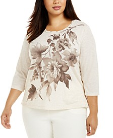 Plus Size First Frost Floral-Print Top