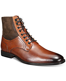 Bar III Men's Jerry Leather & Suede Lace-Up Boots, Created for Macy's
