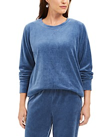 Petite Velour Sweatshirt, Created For Macy's