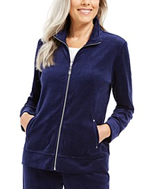 Velour Zip Jacket, Created For Macy's