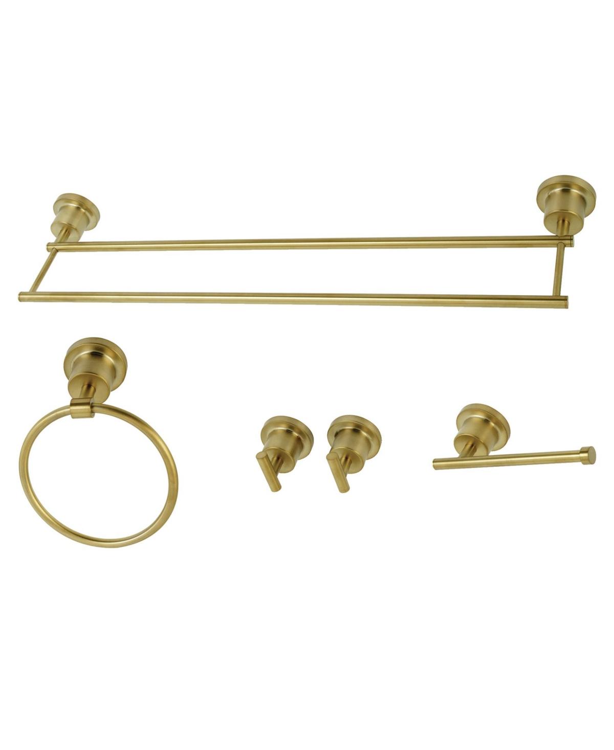 Kingston Brass Concord Dual-Towel Bar 5-Pc. Bathroom Accessory Set Bedding