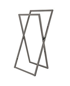 Pedestal X Style Steel Construction Towel Rack