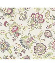 "27"" x 324"" Corona Jacobean Wallpaper"