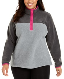 Columbia Plus Size Benton Springs Mock-Neck Contrast-Trim Jacket