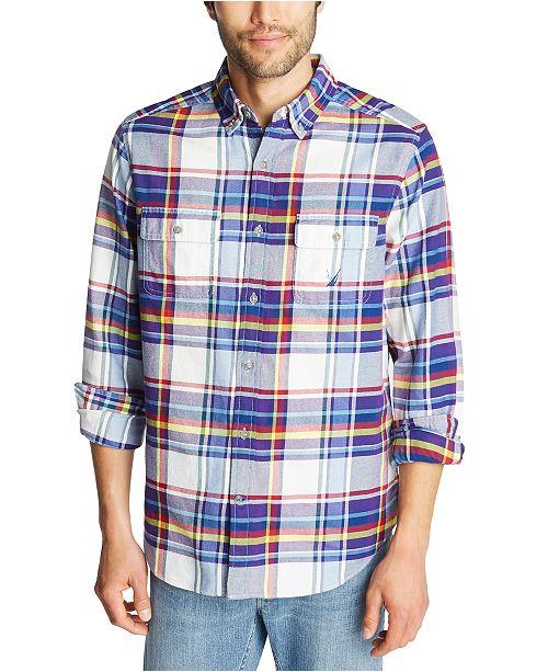 Nautica Men's Classic-Fit Stretch Plaid Flannel Shirt