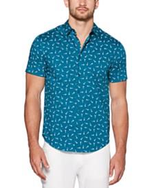 Cubavera Men's Mini Scissor Print Short Sleeve Shirt