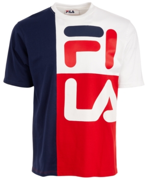Fila Men's Logo Graphic T-shirt In Blue