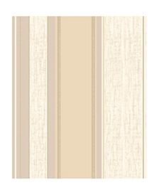 "20.5"" x 369"" Mirabelle Stripe Wallpaper"