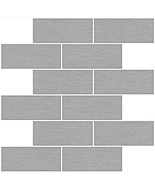 Metro Brushed Peel Stick Backsplash Tiles