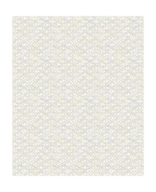 "Decorline 21"" x 396"" Delilah Champagne Diamond Wallpaper"