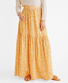 Mango Long Paisley Skirt