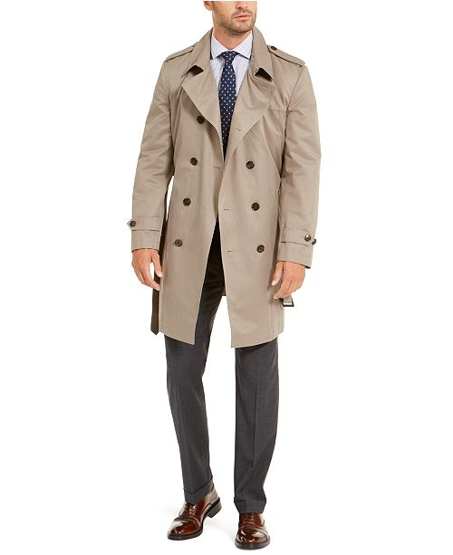 Lauren Ralph Lauren Men's Classic-Fit Lowry Double-Breasted Raincoat