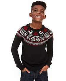 Big Boys Fair Isle Family Sweater, Created For Macy's