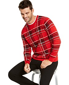 Men's Plaid Family Family Sweater, Created For Macy's