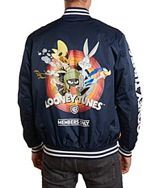 Men's Looney Tunes Mash Print Bomber Jacket