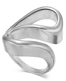 Silver-Tone Sculpted Wave Ring, Created For Macy's