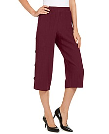 Side-Button Textured Capris, Created for Macy's