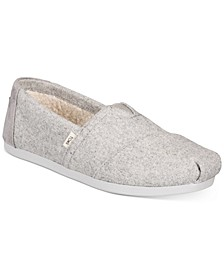 Women's Alpargata Faux-Shearling-Lined Slip-On Flats