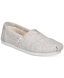 TOMS Women's Alpargata Faux-Shearling-Lined Slip-On Flats