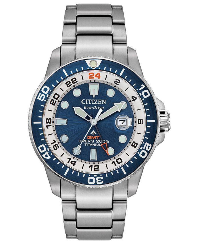 Citizen - Men's Promaster Marine Stainless Steel & Titanium Bracelet Watch 43mm
