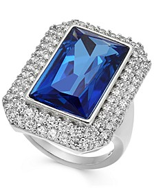INC Silver-Tone Pavé & Stone Statement Ring, Created For Macy's