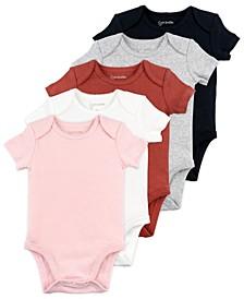 Baby Girl 5-Pack Short Sleeve Bodysuits