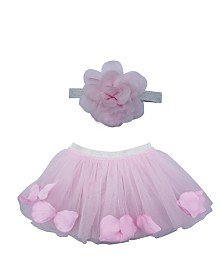 Popatu Baby Girl Petal Tutu with Flower Headband
