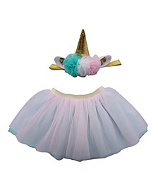 Baby Girl Unicorn Tutu with Unicorn Headband