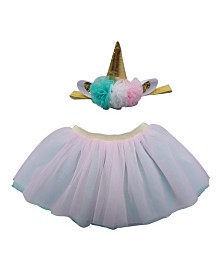 Popatu Baby Girl Unicorn Tutu with Unicorn Headband