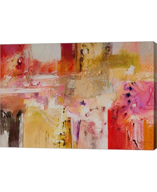 "Metaverse Red and Orange Series 8 by Jennifer Gardner Canvas Art, 28"" x 20"""