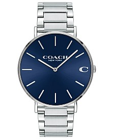 COACH Men's Charles Stainless Steel Bracelet Watch 41mm