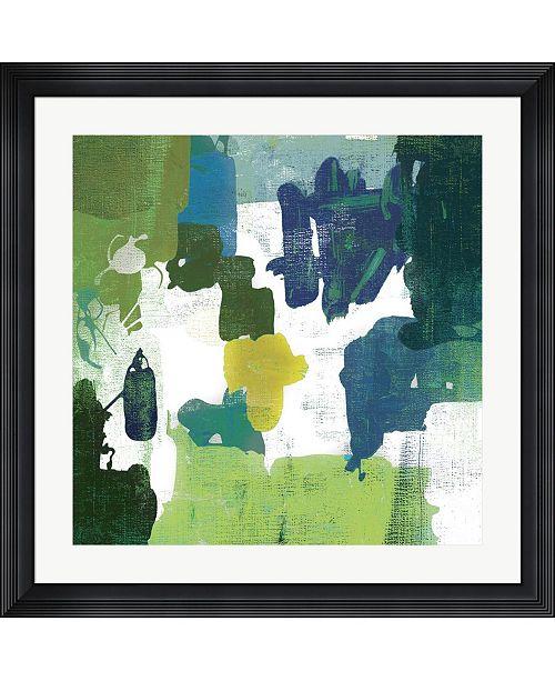 "Metaverse Block Paint I Green by Posters International Studio Framed Art, 32"" x 32"""