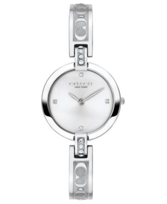 코치 여성 손목 시계 COACH Womens Chrystie Stainless Steel Bracelet Watch 26mm,Silver-tone
