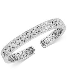 Diamond Filigree Cuff Bracelet (3/8 ct. t.w.) in Sterling Silver