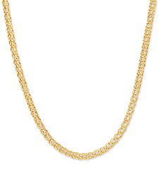 "Foldover Interlocking Link 17"" Chain Necklace in 10k Gold"