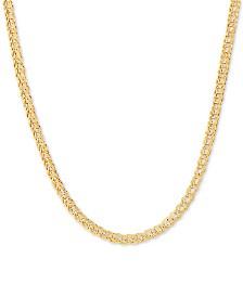 "Foldover Interlocking Link 17"" Chain Necklace in 10k Gold"